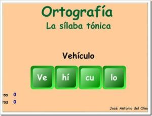 ORTOGRAFIA SILABA TONICA
